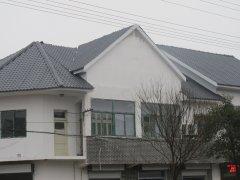 安徽滁州街道风貌改造秸秆纤维聚酯瓦工程案例