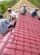 贵州毕节养殖场屋面改造秸秆纤维聚酯瓦工程案例