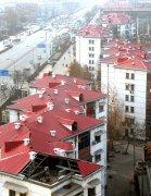 旧城屋面平改坡工程秸秆纤维聚酯瓦工程案例