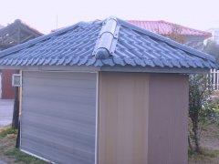 临时配电房小屋纤维聚酯瓦工程案例