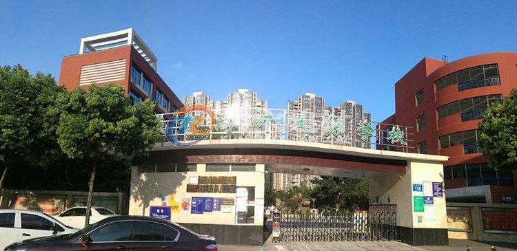 成都高新区大源学校外墙柔性饰面砖工程案例