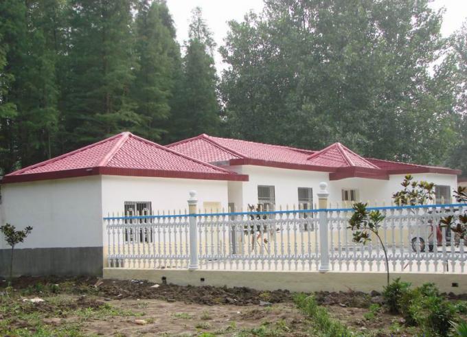 新型屋面瓦合成树脂瓦新农村改造效果图