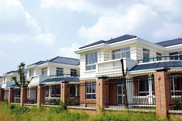 新型别墅屋面瓦|树脂防腐瓦效果图