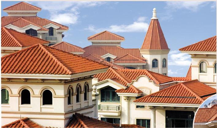 别墅屋顶琉璃瓦|防腐隔热树脂瓦效果图