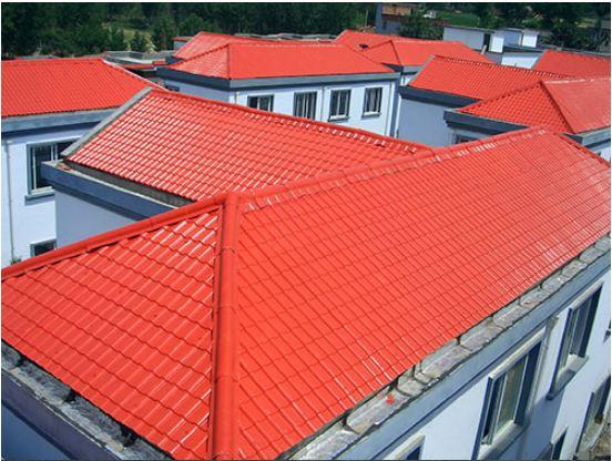 新型防腐蚀屋面瓦轻质树脂瓦平改坡工程案例