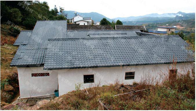 坤宝合成树脂瓦买家秀-农村老房子换瓦